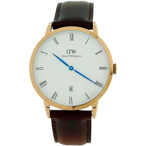 Daniel Wellington Dapper Bristol Rose 38mm Date Brown Leather Strap Watch 1103DW