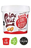 Pip & Nut Smooth Peanut Butter - 2 x 1kg - Absolutely No Palm Oil, Hi-Oleic Argentinian Peanuts, High in Fibre, Vegan Friendly