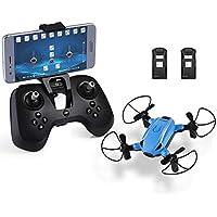 HELIFAR Plegable Drone con cámara HD, X1 WiFi FPV Mini dron 2.4GHz 6-