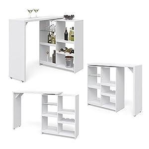 Vicco Bartisch Bar Vega Weiß Tresen Bartresen Stehtisch Tisch Tresentisch Bistrotisch Küche +++ FLEXIBEL STELLBAR…