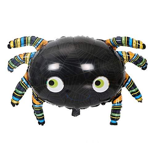 Green Water Halloween Dekorationen Aluminium Ballon, Black Bat Kürbis Schädel Geist Ballon, Bar Party KTV Dekorative Folie Ballon Black Spider