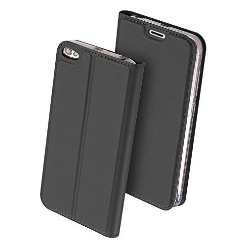 Xiaomi Redmi Note 5A Hülle,GOGME Ledertasche Wallet Case Flip Cover Tasche Leder Brieftasche Schutzhülle Schale mit Handyhülle für Xiaomi Redmi Note 5A - Schwarz