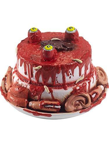 e Horror Gourmet Kuchen mit abgetrennten Fingern Ohren Augen usw., Halloween Dekoration Deko, ideal für Jede Halloween Party / Feier, Rot ()