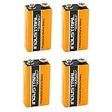 Duracell Industrial Alkaline Batterie Block 9V 6LP3146, 4 pieces