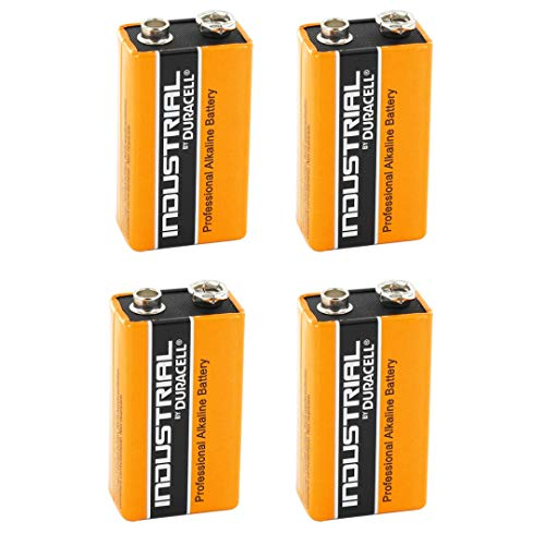 Duracell Industrial Alkaline Batterie Block 9V 6LP3146, 4 pieces