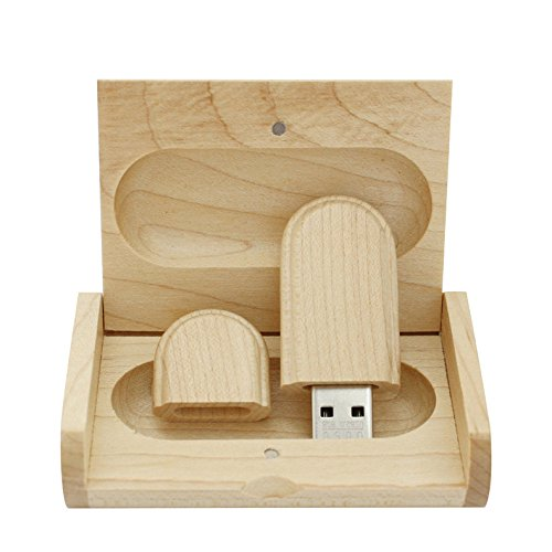 Yaxiny 16 gb 3.0 acero legno usb flash drive con scatola di legno