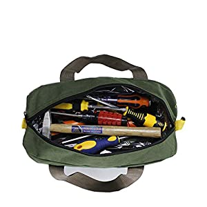 Bolsa de herramientas de almacenamiento impermeable de lona multifunción Juego de herramientas portátil (35cm×15cm×20cm)