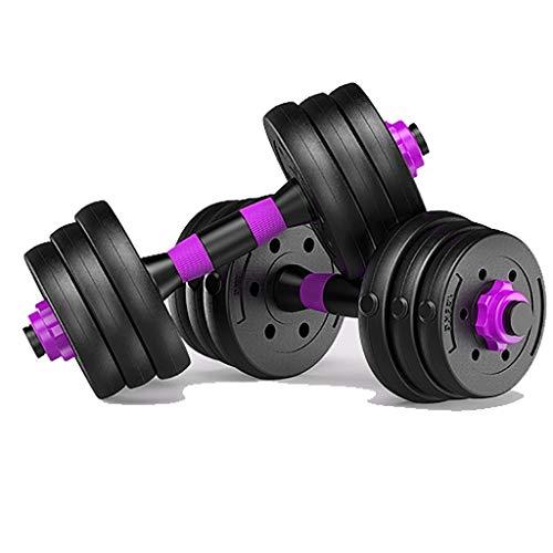 WSC Gummi-Hanteln, Fitnessgeräte für zu Hause, leicht zu tragen 22 Pfund (10 Pfund Hanteln Neopren)