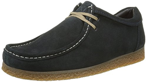 Base London Genesis, Mocassini Uomo Blu (Blu (Suede Navy))