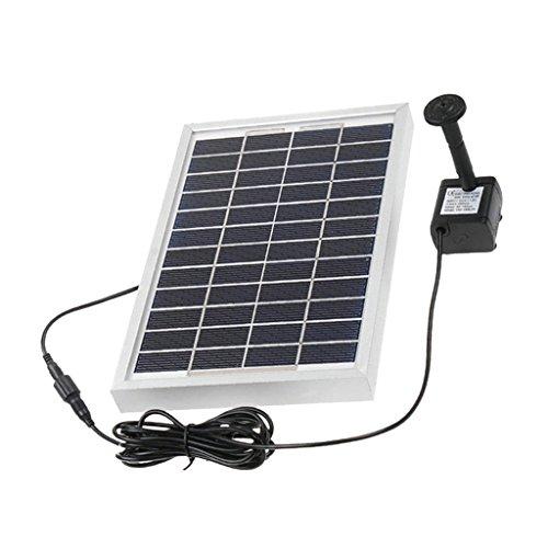 Descripción:      El panel solar: 5W 12V/10W 17 V Entrada de la bomba sin escobillas: DC 6-12V  La cantidad máxima de flujo: 380L / h cabeza de suministro máxima: 120cm la altura máxima del agua: 60cm    Este producto es alimentado por energí...