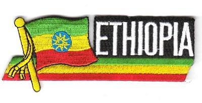 Sidekick Aufnäher Patch Äthiopien Fahne Flagge NEU (äthiopien Patch)