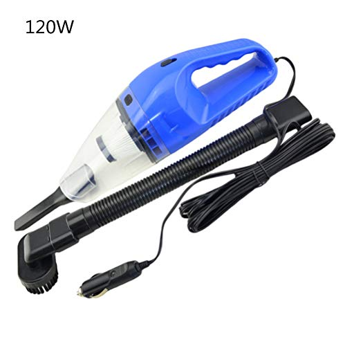 Aspirapolvere auto aspirapolvere portatile portatile umido / asciutto per auto, 12 v ad alta potenza aspirapolvere auto portatile multifunzione pulizia interna (blu)
