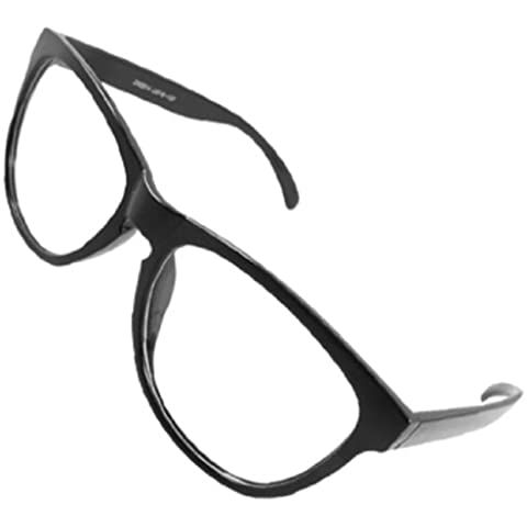 Negro Montura Completa Negro Brazos Plástico Elipse Lente Liso Unisex Vidrio Gafas