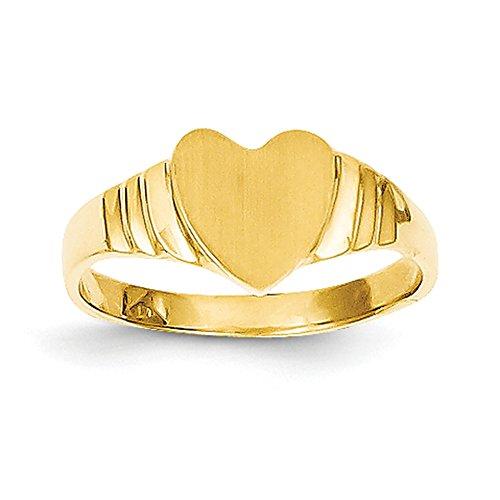 Lex & Lu 14K Gelb Gold Baby Herz Siegelring lal97356
