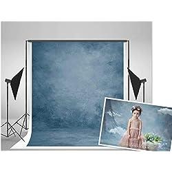 WaW 2x3m toile de fond bleu clair vintage tissu fonds photo portrait décor photographie studio