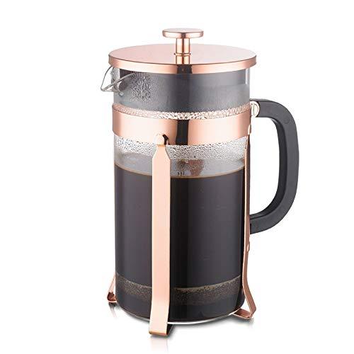 Erkeji teiera vetro teiera di vetro 1000ml macchina da caffè a mano metodo pentola a pressione cromatura processo di processo cornice filtro dispositivo
