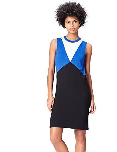 grafischem Design und A-Linien-Form, Blau (Black/dazzling Blue), 46 (Herstellergröße: XXX-Large) ()