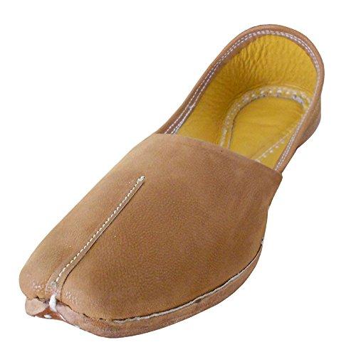 kalra Creations hommes de chaussures ethnique en cuir traditionnel Camel