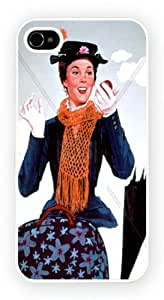 Mary Poppins Julie Andrews Art Design Case for iPhone 4 and 4S