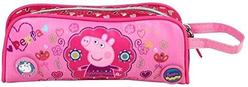 Gran estuche de lona rosa Peppa Pig