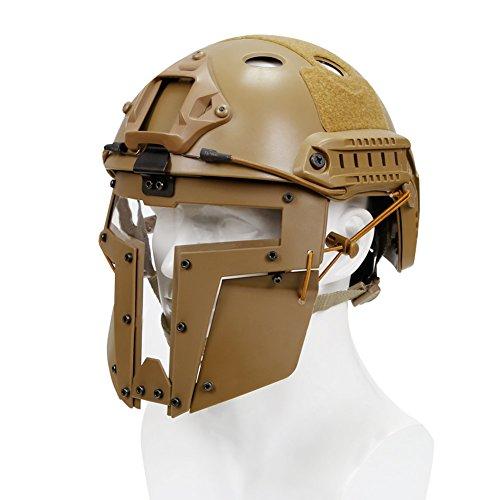 haoYK Casco de Deporte Multiusos Protector táctico Casco Airsoft Paintball Tipo PJFast...