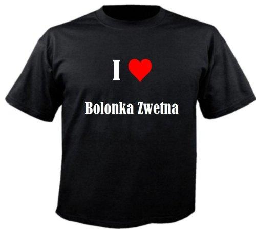 """T-Shirt """"I Love Bolonka Zwetna"""" für Damen Herren und Kinder ... in der Farbe Schwarz Schwarz"""