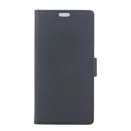 KATUMO® Coque OnePlus 3/OnePlus 3T,Housse PU Cuir Coque Protection pour One Plus 3T Pochette Flip Case Cover Etui Portable-#1Noir
