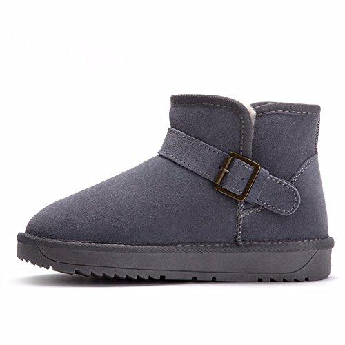 FLYRCX Il Winter Snow Boots lady con impermeabile antiscivolo per calzature cashmere termica dimensione europea: 34-44 P
