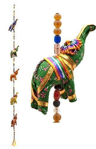 Tela India decoración de cuerda con elefantes