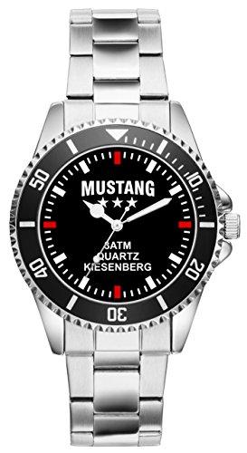 Mustang Geschenk Fan Artikel Zubehör Fanartikel Uhr 2485
