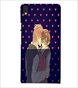 PrintDhaba Couple D-4989 Back Case Cover for HUAWEI ASCEND P6 (Multi-Coloured)