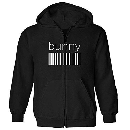 Idakoos Bunny barcode - Weibliche Namen - Kapuzenjacke (Hoodie Zip Bunny)