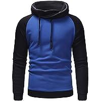 Logobeing Sudaderas de Hombre Invierno Abrigos Ropa Casual Outerwear Manga Larga Camisetas Chaqueta Suéter Chaqueta Punto Hombre Hoodie Tops -D506(M,Azul)