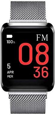 FLORENCE MARLEN | Design Italiano | Smartwatch Uomo-Donna FM1S Amalfi in Maglia Milanese Argento | Orologio, Fitness Tracker