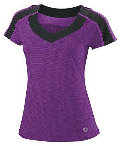 Wilson ashland heather t-shirt pour femme cap top sleeve Multicolore - Violet/Schwarz
