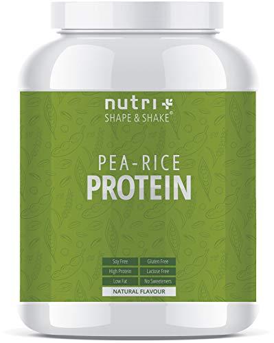 ERBSEN-REISPROTEIN Neutral 1kg - Veganes Eiweißpulver ohne Soja, Zucker, Laktose und Süßungsmittel - Natural Protein unflavoured - 80,7% Eiweiß - Hergestellt in Deutschland