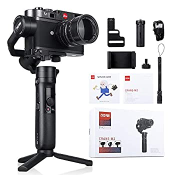 Zhiyun Crane M2 3-Axis Handheld Gimbal Stabilizer for Smartphone, Mirrorless Camera, Action Camera GoPro Hero 7/6/5 Sony A6000/A6500/Canon M6