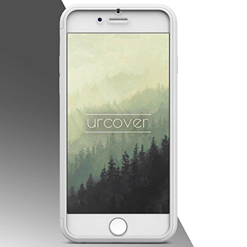 UrCover avec film protecteur d'écran touch Housse Apple iPhone 6Coque Protection complète Sac [Allemand poche Commerce] Housse Cover Etui Coque Case Full View Noir Transparent Blanc Transparente
