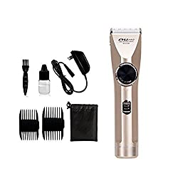 CHJPro Waterproof hair trimmer&Beard Trimmer Kit For Men 5 gears adjustable blade Mustache Trimmer Cordless Bet Hair Clippers With 2 Guide comb(3,6,9,12mm) Best gifts