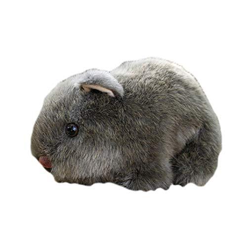 Cossll498 18cm Simulation Plüsch Hamster Tier Plüsch Plüsch Puppe Spielzeug Home Sofa Decor - Grau