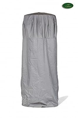 Premium Schutzhülle für Heizpilz/Terassenstrahler/Heizstrahler aus Polyester Oxford 600D - lichtgrau - von 'mehr Garten' von Schutzhüllenprofi - Gartenmöbel von Du und Dein Garten