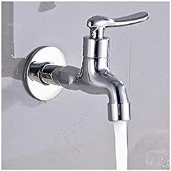 Küche Bad Wasserhahnmopp-Pool-Wasserdüse Erweitert Einzelner Kaltwasserhahn Vier Punkte Schnelle Offene Verteidigung Spritzwasser Wasserwaschbecken Wasserhahn