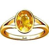 Divya Shakti 9.25-9.50 Ratti Yellow Sapphire Ring (Pukhraj...