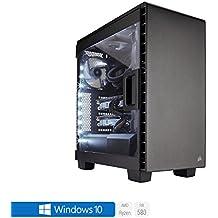Sedatech PC Gaming Expert AMD Ryzen 7 1700 8x 3.0Ghz (max 3.7Ghz), Radeon RX 580 8Gb, 16 Gb RAM DDR4, 2 Tb HDD, USB 3.1, HDMI2.0, Risoluzione 4K, DirectX 12, VR Ready, Alim 80+. Computer Desktop con Windows 10 64 Bit