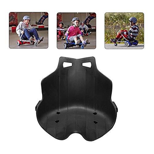 HUVE Hoverboard Sitz - Hoverboard Zubehör Kunststoff Drift Autositz Einstellbar Umweltfreundlich Kart Für Hoverboard Ersatz, Hoverboard Sitz Befestigung