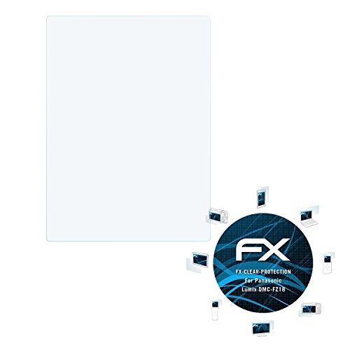 Kamera Fz18 Panasonic (atFoliX Displayschutzfolie für Panasonic Lumix DMC-FZ18 Schutzfolie - 3 x FX-Clear kristallklare Folie)