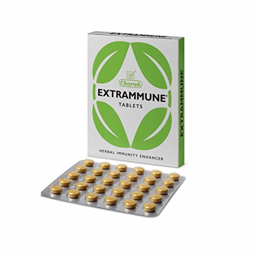 A good immune system is of paramount importance in today's highly polluted world.  Extrammune is a natural immunity enhancer. It helps to stimulate the production and activity of infection fighting cells. Haridra, tulsi, guduchi and yastimadhu are known for their immunity boosting properties while triphala guggul, manjishtha and chitrak have anti inflammatory properties.  This product would give you the following benefits:- . Boosting the immune system, thus making you more resilient towards diseases. . Fighting any infection that you might have. . Reducing inflammation throughout your body.  .
