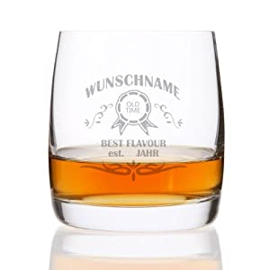 Privatglas Whiskeyglas (Bohemia) - mit kostenloser Gravur - tolle Geschenkidee für Ihren Lieblingsmenschen Motiv Straight