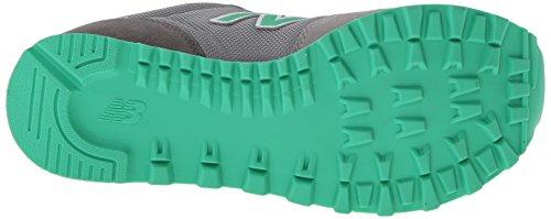 New Balance Wl501, Baskets Basses Mixte Adulte Gris/verde (Gris/verde)