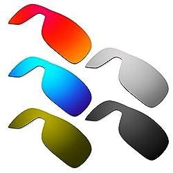 Hkuco Mens Replacement Lenses For Oakley Turbine Rotor Redblueblacktitaniumbronze Sunglasses